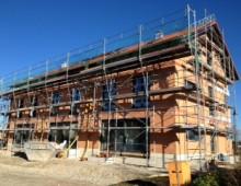 Neubau von drei Reihenhäusern  in Niedrigenergiebauweise
